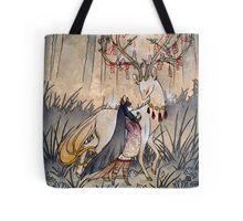 The Wish - Kitsune Fox Deer Yokai Tote Bag
