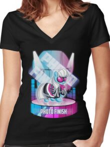 MLP: Photo Finish Women's Fitted V-Neck T-Shirt