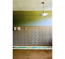 lockers Photographic Print
