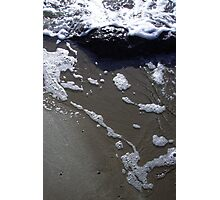 Wet Sand and Surf Photographic Print