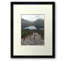 Clay People party on Trumpet Rock Framed Print