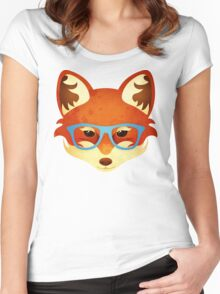 Hipster Fox Women's Fitted Scoop T-Shirt