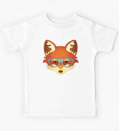 Hipster Fox Kids Tee