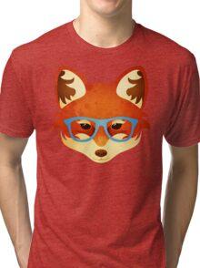 Hipster Fox Tri-blend T-Shirt