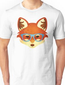 Hipster Fox Unisex T-Shirt