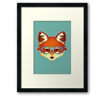 Hipster Fox Framed Print