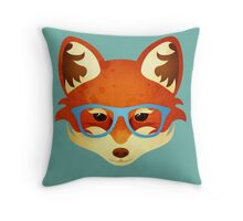 Hipster Fox Throw Pillow
