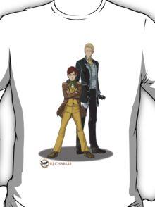 Stephen and Crane by Lyudmila Tsapaeva T-Shirt