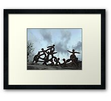 Clay People- Looking to Beinn Eighe Framed Print