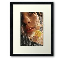 Touch in spring... Framed Print