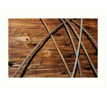 Telephone Cables Art Print