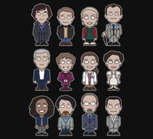 Sherlock and Friends mini people (shirt) Kids Tee