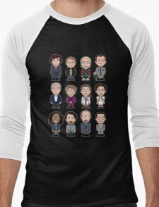 Sherlock and Friends mini people (shirt) Men's Baseball ¾ T-Shirt