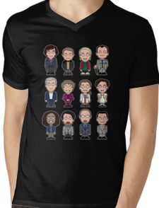 Sherlock and Friends mini people (shirt) Mens V-Neck T-Shirt