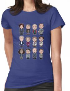 Sherlock and Friends mini people (shirt) Womens Fitted T-Shirt