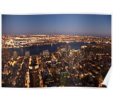 East River at Dusk Poster