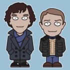 Sherlock and John mini people (shirt) by redscharlach