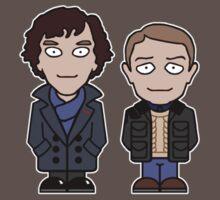 Sherlock and John mini people (shirt) Kids Clothes