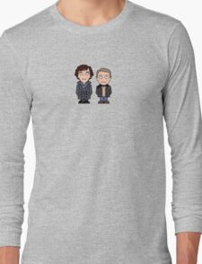 Sherlock and John mini people (shirt) Long Sleeve T-Shirt