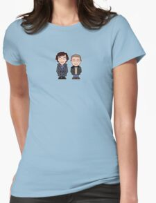 Sherlock and John mini people (shirt) Womens Fitted T-Shirt