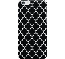 Moroccan Trellis, Latticework - Black White  iPhone Case/Skin