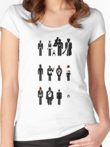 Doctor Who - companions recognition guide Women's Fitted Scoop T-Shirt