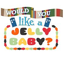 Doctor Who Typography - Jelly Baby by Joshua Bell