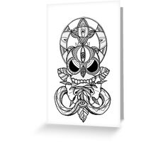CoC Candy Skull Greeting Card