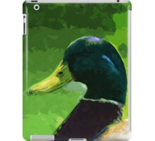 Male Mallard Duck Abstract Impressionism iPad Case/Skin