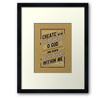 Clean Heart Framed Print