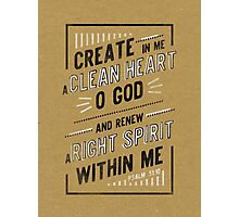 Clean Heart Photographic Print