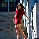 Fashion shot Chloe Jane Telstra Dome Aspect 3 by Tony Lin