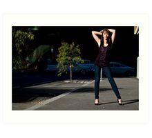 Fashion shot Chloe Jane Street Location Aspect 3 Art Print