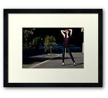 Fashion shot Chloe Jane Street Location Aspect 3 Framed Print