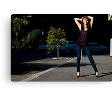 Fashion shot Chloe Jane Street Location Aspect 3 Canvas Print