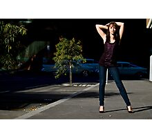 Fashion shot Chloe Jane Street Location Aspect 3 Photographic Print