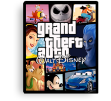 Grand Theft Auto Disney  Canvas Print