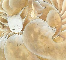 Sleeping Ninetails - Kitsune Fox Yokai by TeaKitsune