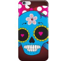 Girly skull with bow iPhone Case/Skin
