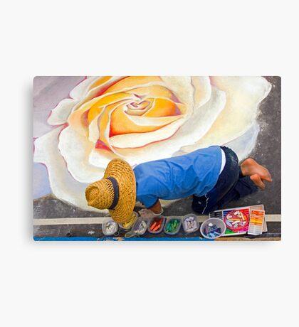 Imadonnari Italian street painting festival.  Santa Barbara, California Canvas Print
