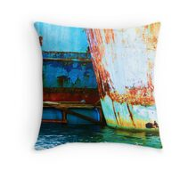 Abandoned Together Throw Pillow