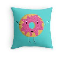 Cartoon Donut Throw Pillow