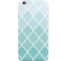 Ombre Moroccan Trellis, Latticework - Blue White  iPhone Case/Skin