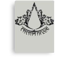 Deadric Script Assasin's Creed Logo Canvas Print