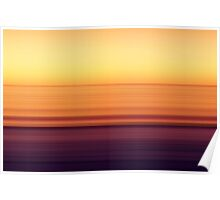 North Sea in sunset colors Poster