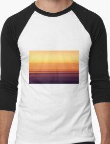 North Sea in sunset colors Men's Baseball ¾ T-Shirt