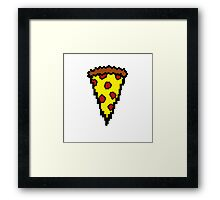 Pixel Pizza  Framed Print