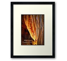 "Behind Curtians   ""Caverns Series"" Framed Print"