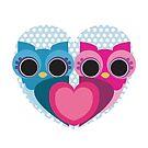 owl heart by claclina