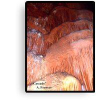 "Cascade     ""Caverns Series"" Canvas Print"